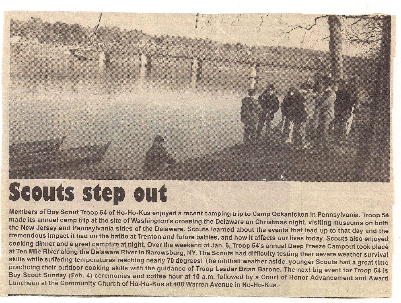 Annual December Washington's Crossing Campout