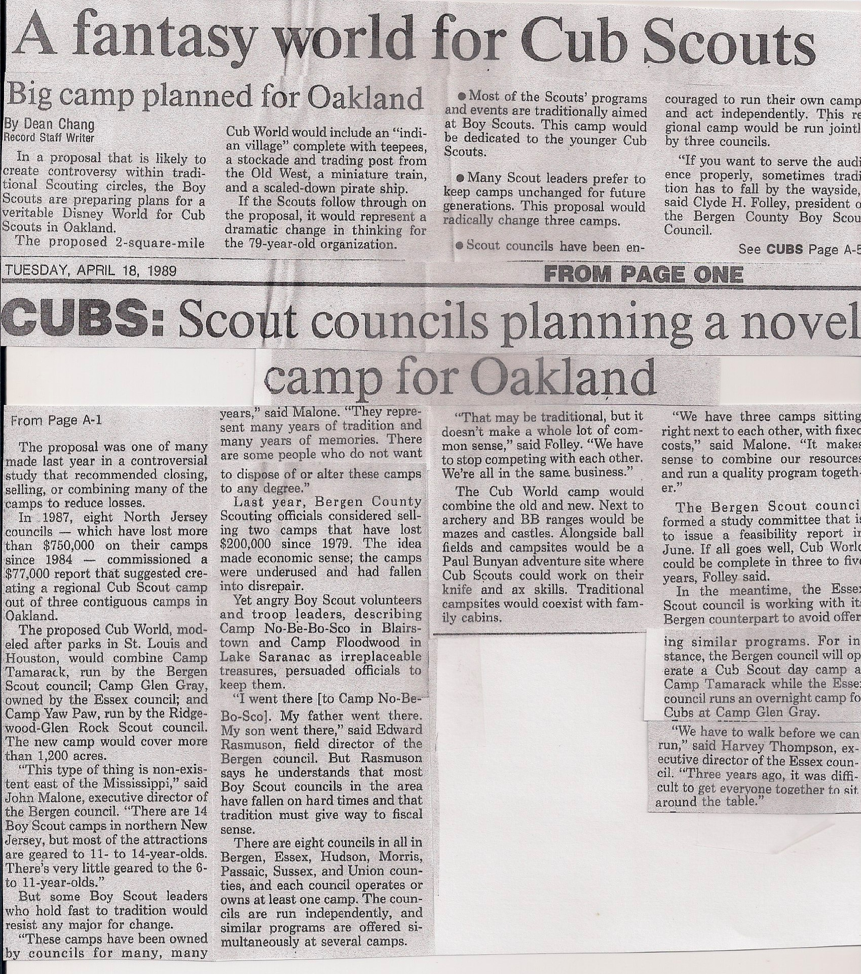 Scout Camp Oakland
